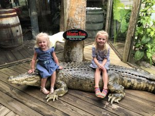 The girls had so much fun at the Alligator Farm.