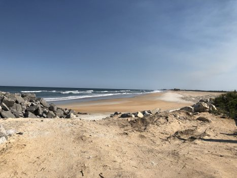 This was just south of an area called The Matanzas Inlet. Such a gorgeous, secluded little section of beach.