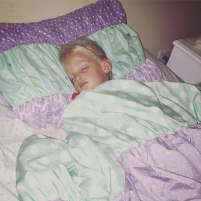 After I put Ella to bed for the last time as a 4-year-old.